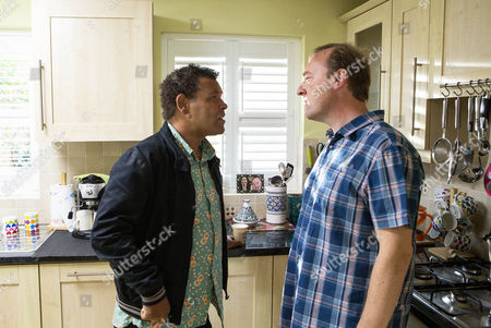 When Lloyd Mullaney [CRAIG CHARLES] spots the wine glasses and candles laid out he realises Neil Beckett [WILL TRAVIS] was trying to dupe Andrea Beckett [Hayley Tamaddon] into coming round by pretending he might take his own life. Disgusted he warns Neil to stay away. But Neil's not going down without a fight and the police soon come knocking on Lloyd's door.