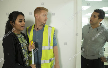 Gary Windass [MIKEY NORTH] and Alya Nazir [SAIR KHAN] find it hard to hide their feelings for each other and are nearly caught by Kal Nazir [JIMI MISTRY].