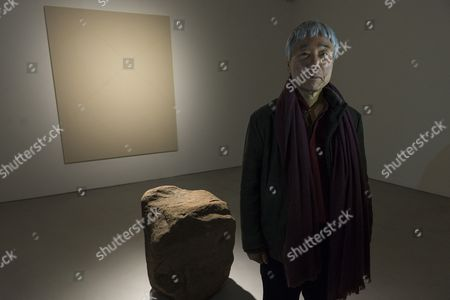 Editorial image of Lee Ufan exhibition at the Lisson gallery, London, Britain  - 24 Mar 2015