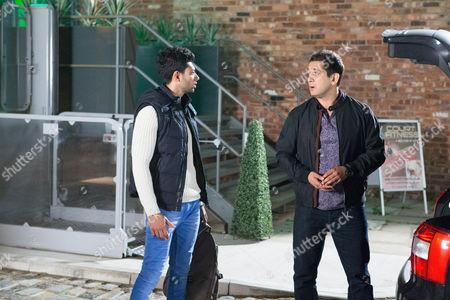 Kal Nazir [JIMI MISTRY] tells Zeedan Nazir [QASIM ATAKHTAR] he could do much better than labouring for Tony.