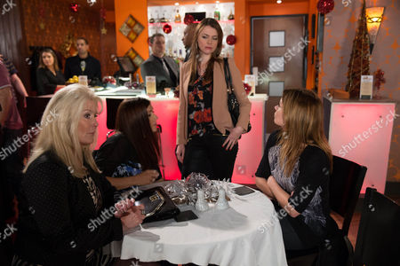 When Tracy Barlow [KATE FORD] spots Carla Connor [ALISON KING], Michelle Connor [KYM MARSH], Liz McDonald [BEVERLEY CALLARD] and Tony all having a good time at the next table, her jealousy explodes as she blames Carla for ruining her life!