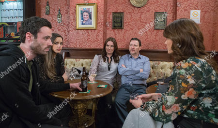 Anna Windass [DEBBIE RUSH] annoyed when Linda [JACQUELINE LEONARD], Katy Armstrong [GEORGIA MAY FOOTE] and Callum Logan [SEAN WARD] crash her date with Owen Armstrong [IAN PULESTON-DAVIES]. Katy's peeved as Anna's frosty with Linda and when Gail overhears Callum smarming the Armstrongs, she gleefully reveals that he's a drug-dealer. Katy's defensive as Owen and Linda reel. Sick of her evening being hijacked, how will Anna respond?