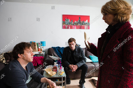 Gail [HELEN WORTH] and Andy [OLIVER FARNWORTH] call at Gavin Rodwell's [MARK HOLGATE]  flat and handing him the £2,500, tell him to stay away from Michael. As they make to leave, Andy reminds Gavin that he must get his heart checked out.