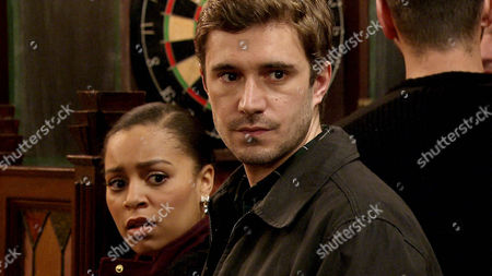 Andy [OLIVER METCALFE] is scared stiff that Gavin Rodwell [MARK HOLGATE] will blow his cover. Steph Britton [TISHA MERRY] urges him to come clean to Michael Rodwell [LES DENNIS] straight away. Steph and Andy find Gail and Michael in the Rovers but before they can say anything, Gavin walks in. Is he about to blow Andy's secret?