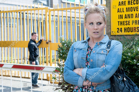 Stock Picture of Robbie Lawson [JAMIE SHELTON] and Megan are determined to find further proof against Charity and Robbie enlists the help of Tracy [AMY WYATT]. But will it prove a risky move? Where do Tracy's loyalties lie?
