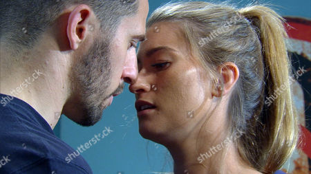 Stock Image of Debbie Debbie [CHARLEY WEBB] finds a tearful Ross Barton [MICHAEL PARR] packing his things but she tells him that the grief will just follow him wherever he goes. He breaks down; angry that Donna didn't tell him she had cancer and caught up in the moment he kisses Debbie. Ross asks Debbie to say she loves him but will Debbie give him what he wants or will she realise her love for Pete?