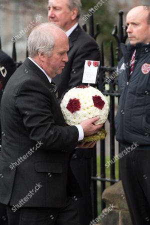 A floral tribute from Ann Budge and Craig Levein