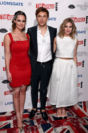 Stock Photo of Merritt Patterson, William Moseley and Sophie Colquhoun