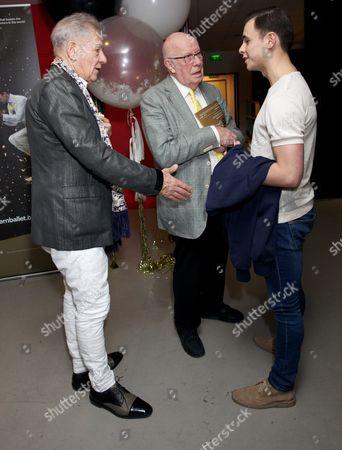 Stock Image of Sir Ian McKellen, Richard Wilson and Gavin McCaig