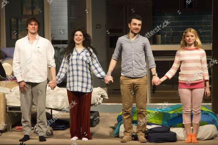 Joe Coen (Jonah), Jenna Augen (Daphna), Ilan Goodman (Liam) and Gina Bramhill (Melody) during the curtain call