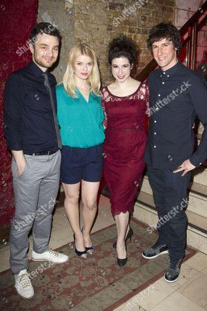 Ilan Goodman (Liam), Gina Bramhill (Melody), Jenna Augen (Daphna) and Joe Coen (Jonah)