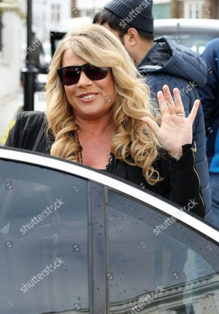 Stock Image of Letitia Dean filming Eastenders in Notting Hill
