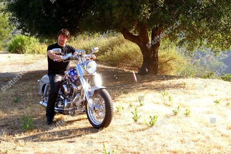 Peter Reckell and his Titan motorcycle