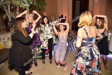 Mary Katrantzou, Sabine G., Fernanda Abdallah, Paula Goldstein di Principe, Charlotte Dellal and Valentine Fillol-Cordier