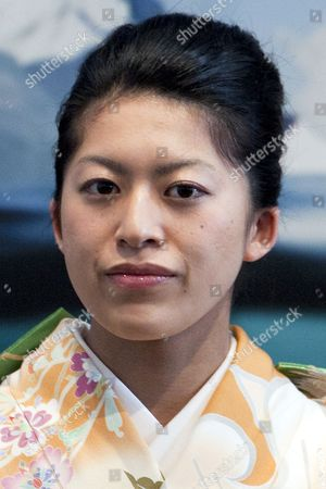 """Princess Tsuguko of Takamado of the Imperial House of Japan attends the opening ceremony of the exhibition """"The Spiritual Greenland"""" at Hillside Forum in Daikanyama"""