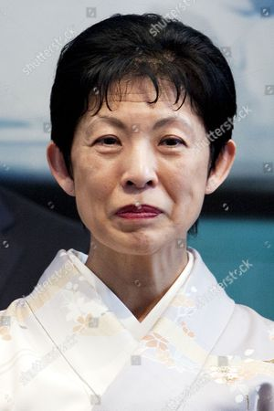"""Princess Hisako Takamado of the Imperial House of Japan attends the opening ceremony of the exhibition """"The Spiritual Greenland"""" at Hillside Forum in Daikanyama"""
