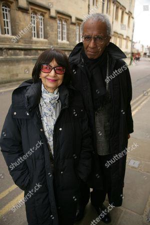 Madhur Jaffrey and husband Sanford Allen
