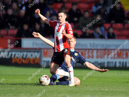 Stock Image of Sheffield United's Jason Holt is tackled by  Crewe Alexandra's Alan Tate