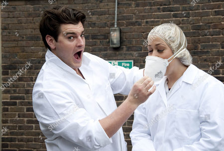 Matt Lapinskas and Amelia Lily Oliver before their paint battle