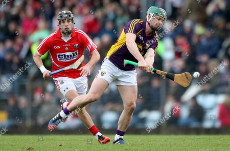Stock Photo of Cork's Killian Burke and Harry Kehoe of Wexford