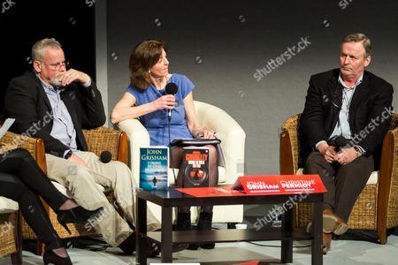 John Grisham, Christine Ferniot and Michael Connelly