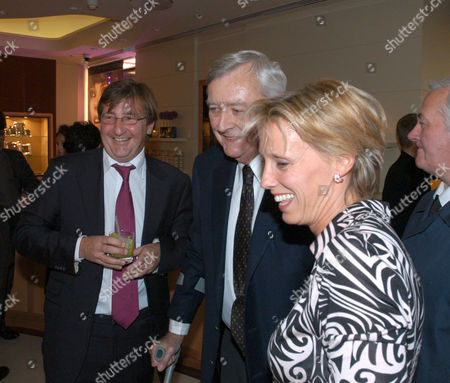 OWNERS JOHN AYTON AND ANNOUSHKA DUCAS WITH MARK BIRLEY (C)