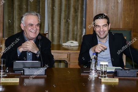 Deputy Prime Minister, Yannis Dragasakis and Prime Minister Alexis Tsipras