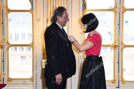 Tony Gatlif and Fleur Pellerin