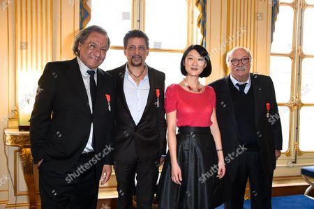 Tony Gatlif, Abel Jafri, Fleur Pellerin and Jean Becker