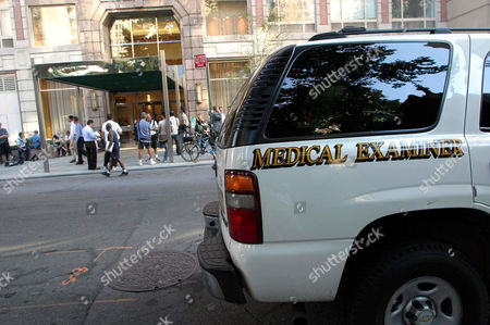 Medical examiner outside the home of Eric Douglas in Manhattan
