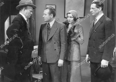 Stock Photo of Monroe Owsley, Claudette Colbert, Robert Barrat, on-set of the Film, 'Honor Among Lovers', 1931