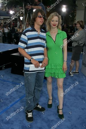 Stock Photo of Thora Birch and Brother Bolt Birch
