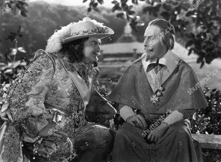 Edward Arnold and George Arliss on-set of the Film, Cardinal Richelieu, 1935