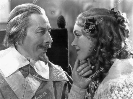 George Arliss and Maureen O'Sullivan on-set of the Film, Cardinal Richelieu, 1935