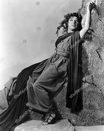 Judith Anderson, on-set of the Broadway Play, 'Medea', circa 1947