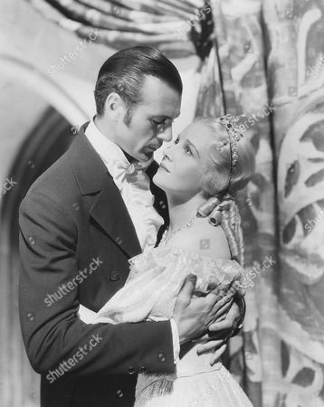 Gary Cooper and Ann Harding, on-set of the Film, 'Peter Ibbetson' directed by Henry Hathaway, 1935