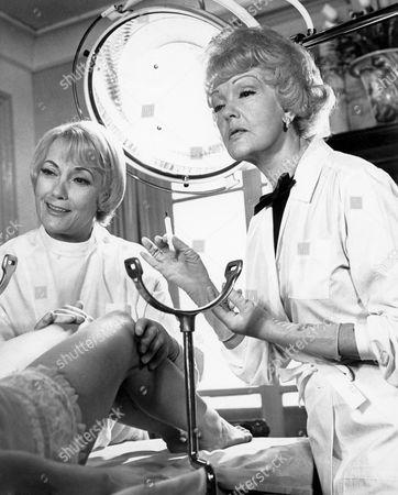 Isa Miranda (left), on-set of the Film, 'A Young World' (aka Un Monde Nouveau), 1966