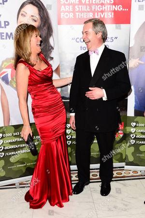 Michelle Cotton and Nigel Farage