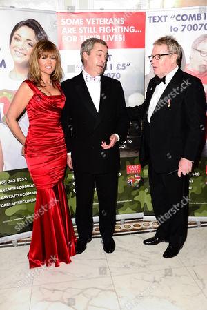 Stock Image of Michelle Cotton, Nigel Farage and Jim Davidson
