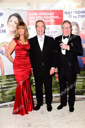 Stock Picture of Michelle Cotton, Nigel Farage and Jim Davidson