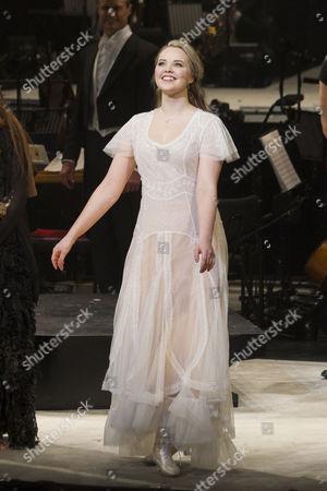 Katie Hall (Johanna) during the curtain call