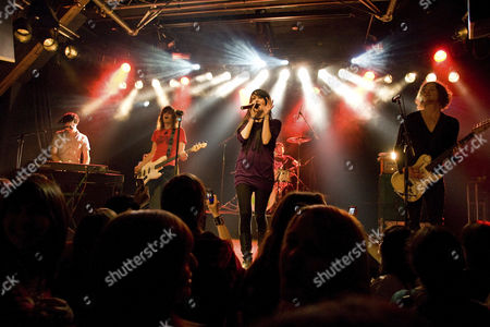 The German singer Jennifer Weist aka Jennifer Rostock live with band in the Schueuer Lucerne, Switzerland, Europe