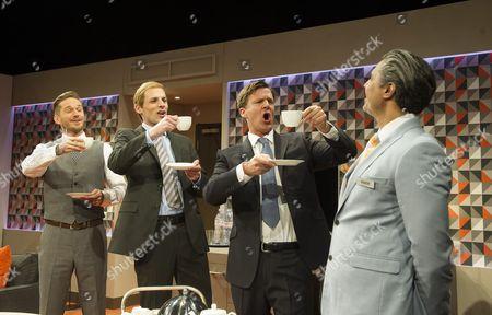Sean Browne as David Bechkam, Tom Davey as Prince William, Dugald Bruce-Lockhart as David Cameron, Ravi Aujla as Ashok