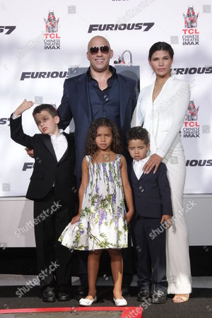 Vin Diesel, Paloma Jimenez, daughter Hania Riley and son Vincent Sinclair