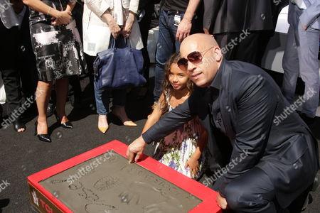 Vin Diesel with daughter Hania Riley