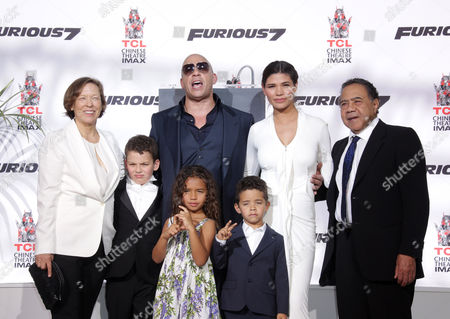 Vin Diesel, Paloma Jimenez, daughter Hania Riley, son Vincent Sinclair and family
