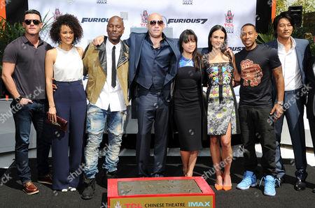 Lucas Black, Nathalie Emmanuel, Tyrese Gibson, Vin Diesel, Michelle Rodriguez, Jordana Brewster and Ludacris
