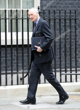 Sir George Young Chief Whip And Parliamentary Secretary To The Treasury Arrives At No.10 Downing St. For A Pre-budget Cabinet Meeting.