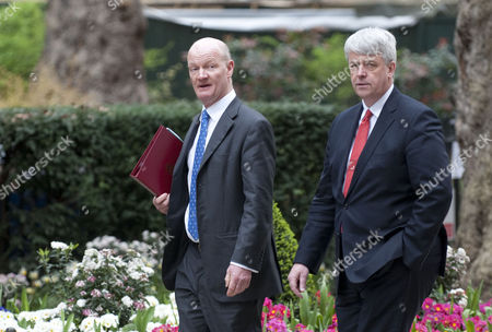 David Willetts Minister Of State For Universities And Science Arrives With Andrew Lansley Leader Of The House Of Commons And Lord Privy Seal At No.10 Downing St. For A Pre-budget Cabinet Meeting.