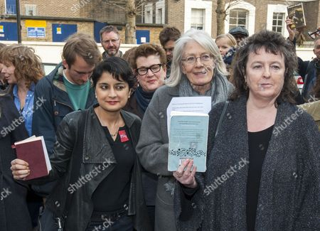 A Demonstration Outside Pentonville Prison Protesting Against The Ban On Sending Books To Prisoners. Led By The Poet Laureate Carol Ann Duffy With Vanessa Redgrave And Shami Chakrabarti. 28.03.14.